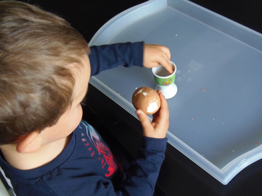 Pelar huevo