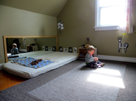 Habitaciones de bebé inspiradas en Montessori - Montessori inspired ...