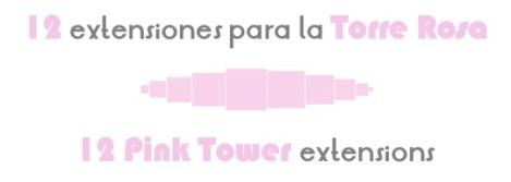 12 extensiones torre rosa