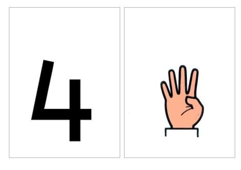 numeros y dedos