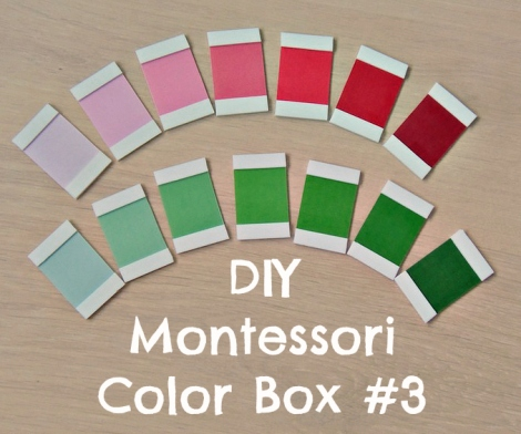 Tutorial caja de color Montessori - DIY Color box