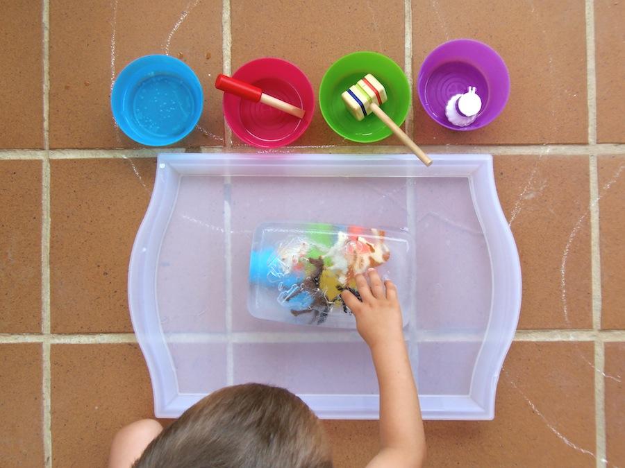 Excavacion En Hielo Ice Excavation Montessori En Casa
